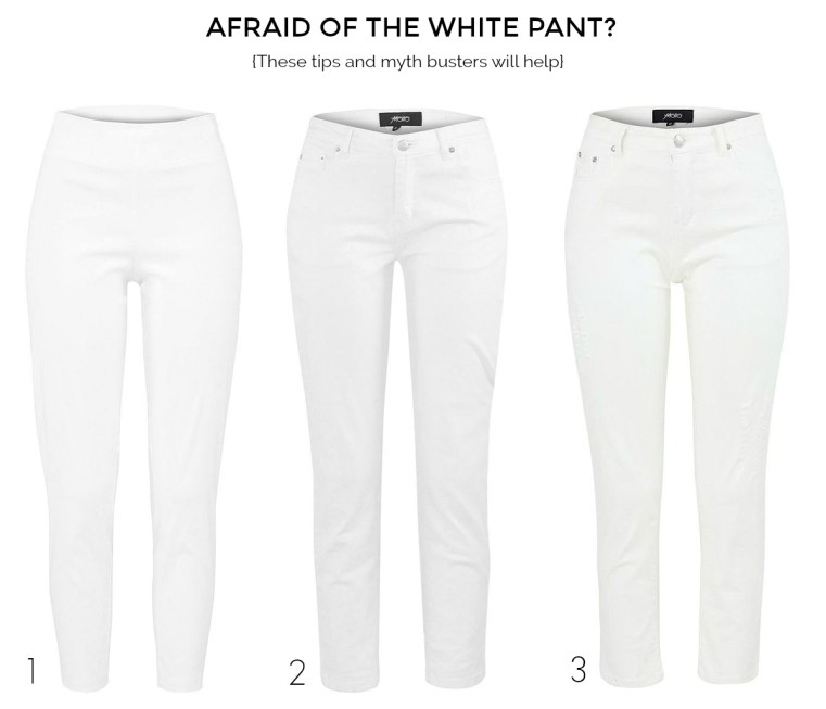 Afraid of the white pant? These tips and myth busters will help | 3 Motto white pants