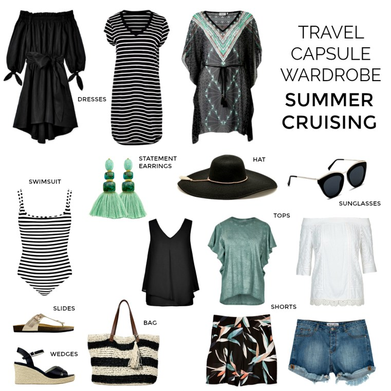 15-piece summer cruising travel capsule wardrobe | what to pack for a cruise