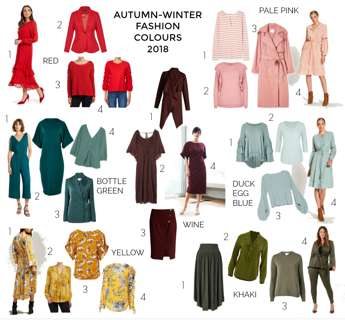 Autumn-Winter fashion colours 2018 | Styling You