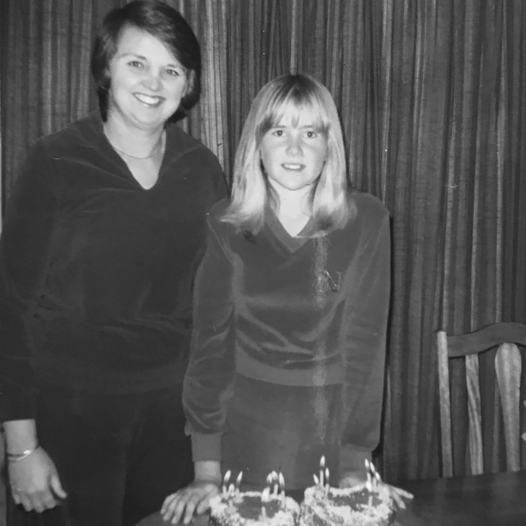 Mum and I in 1980 on my 13th birthday