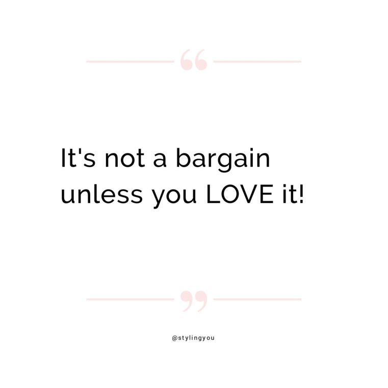 It's not a bargain unless you LOVE it | Styling You | How to grab a real bargain in the end-of-season sales