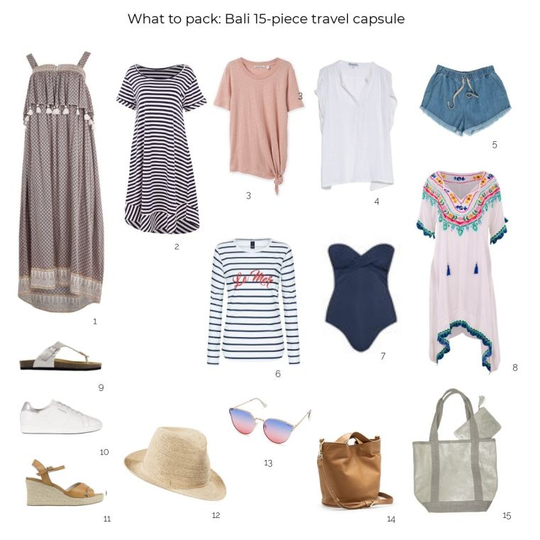 What to pack: Bali 15-piece travel capsule