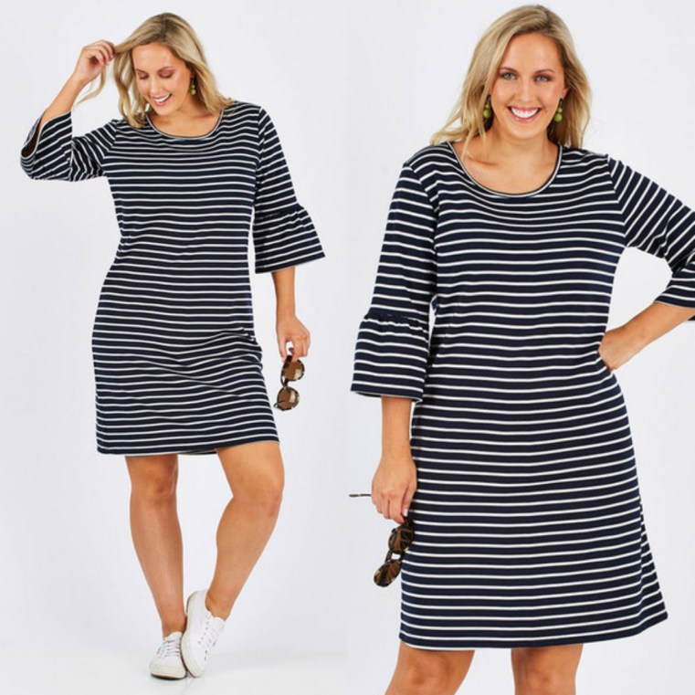 Belle bird Belle nautical stripe dress