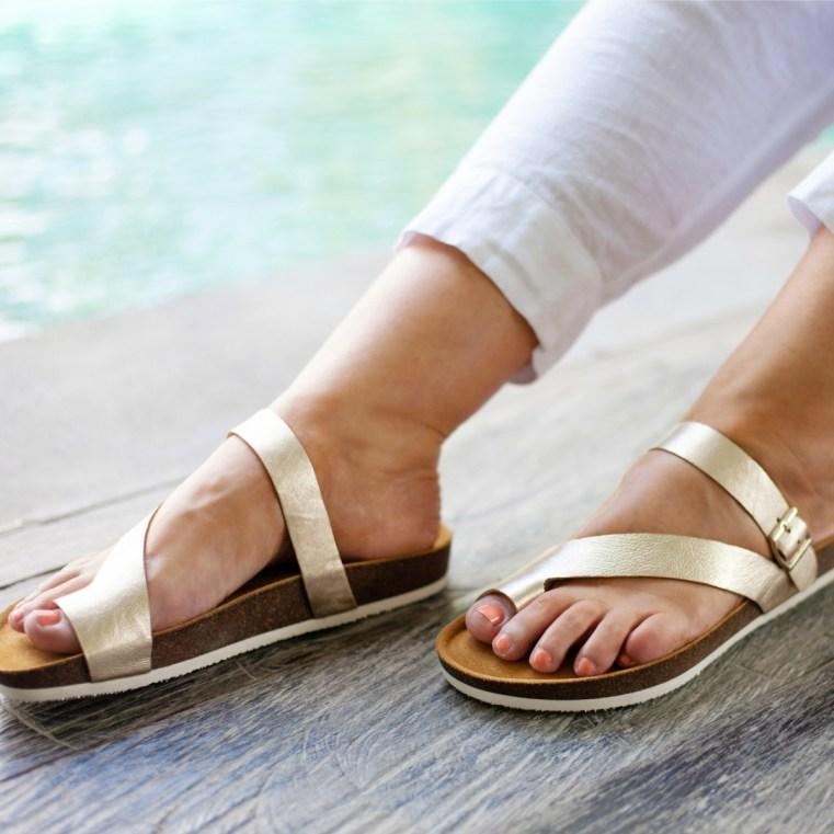 FRANKiE4 Footwear SHELLY in gold LD