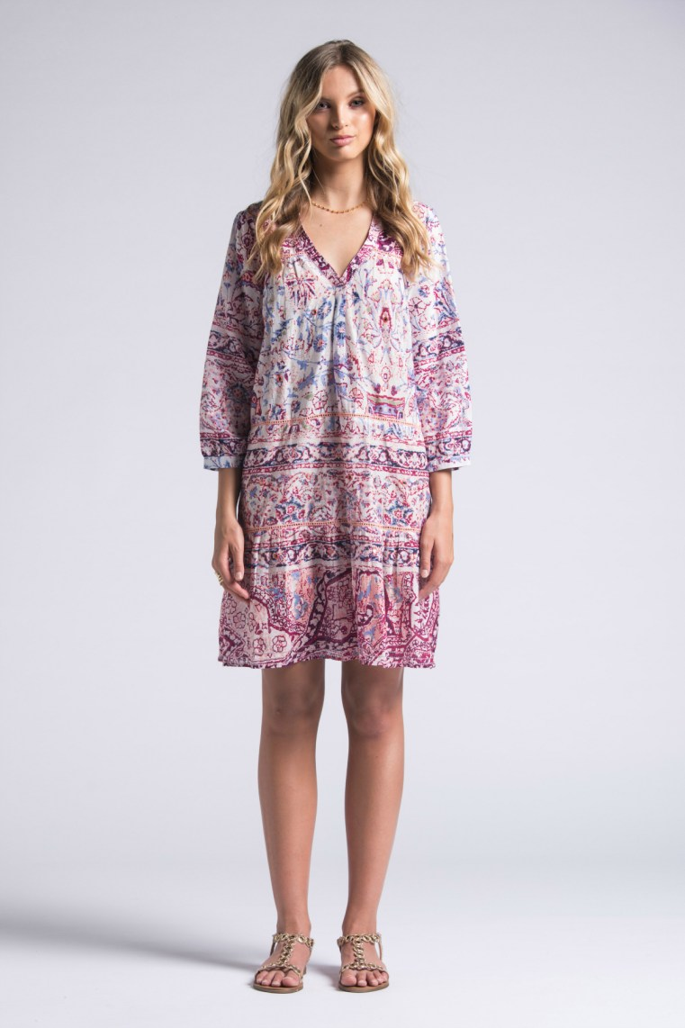 Lola Australia swing cotton dress in Balthazar print