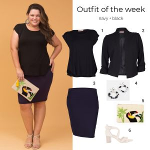 Styling You the Label outfit of the week: navy and black