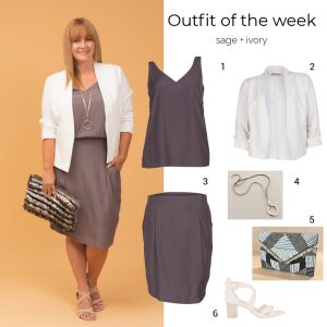 Styling You The Label outfit of the week: sage + ivory