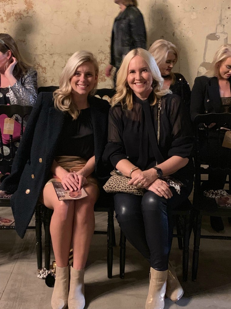 Brooke Falvey and Nikki Parkinson front row at the White Label Noba Wild Love AW19 collection launch