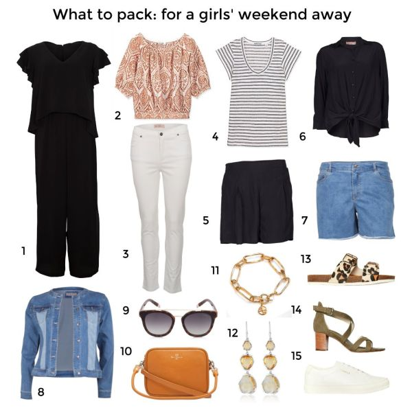 What to pack for a girls' weekend away