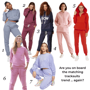 The matching tracksuit trend autumn-winter 2020