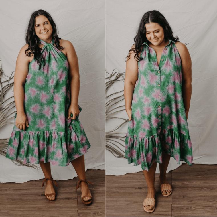 Zarc Clothing Flora dress in floral spray