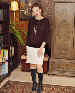 Slouchy Sweatshirt top and self drafted skirt