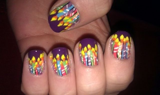 Happy Birthday Themed Nail Art Designs Amp Ideas