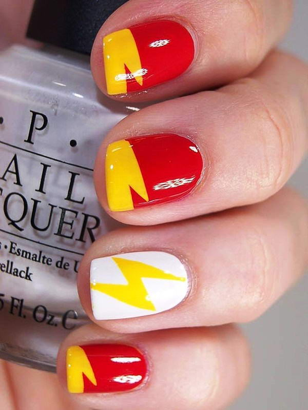 Who Wants To Get These Superhero Nail Arts