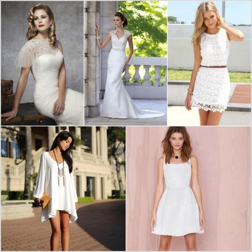 10 White Dresses with Different Kinds of Necklines