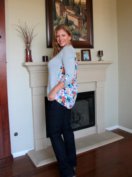 Market & Spruce Dido Mixed Print Knit Top & Liverpool Collen Straight Leg Jean - Stitch Fix Review April 2016 #fashion #style #stitchfix
