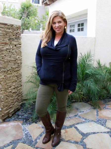 Stitch Fix November 2016 Review - Market & Spruce Alan French Terry Assymmetrical Zip Cardigan #stitchfix #fashion #style