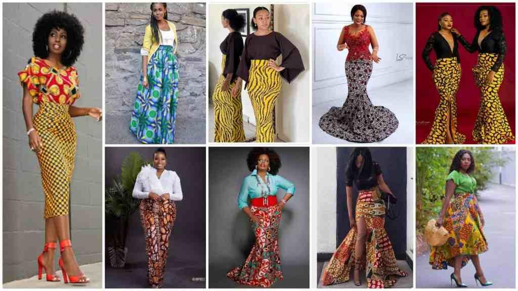 Amazing ankara high waist skirt with top