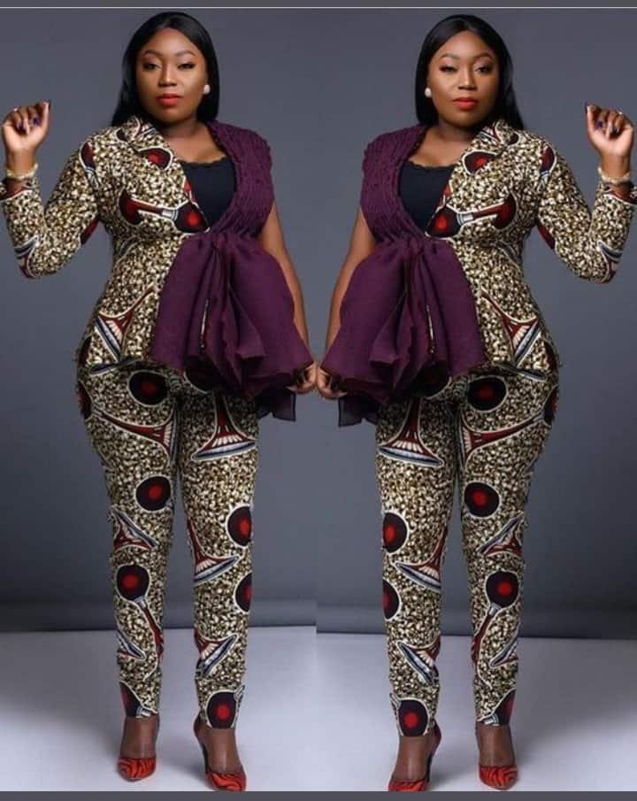 Smart and Trendy Ankara Blouse and Trousers Matching Styles