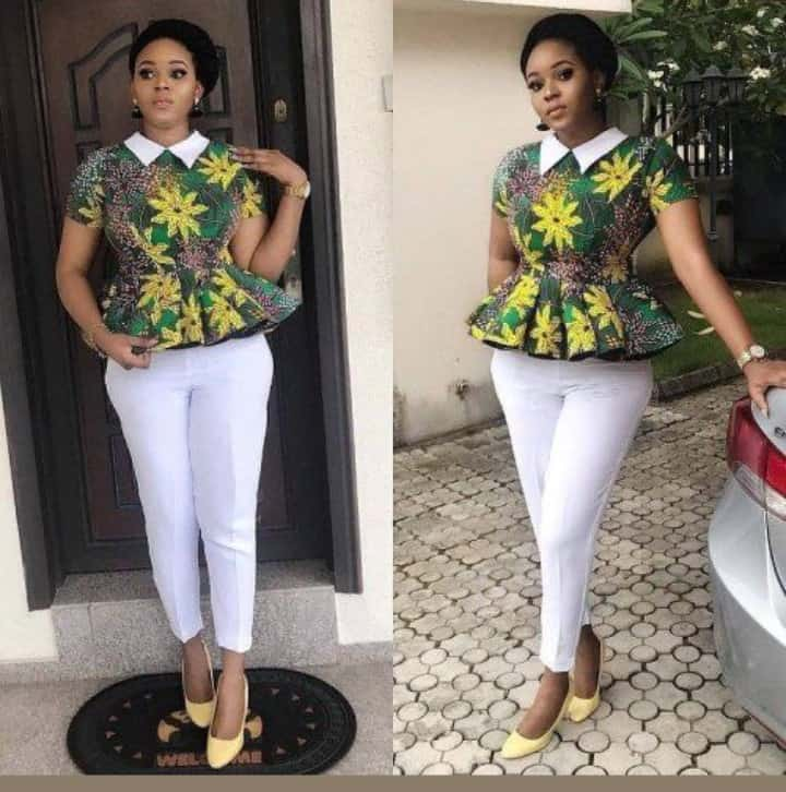 30+ Amazing Ways to Rock Ankara Tops with White Pants/Trousers