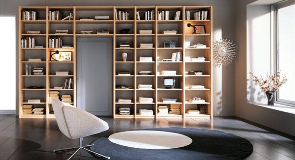 Stylish Softness Modern Bookcase Design Ideas By ZG Group