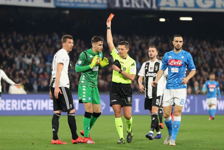 L'espulsione di Meret in Napoli-Juventus | Numerosette Magazine