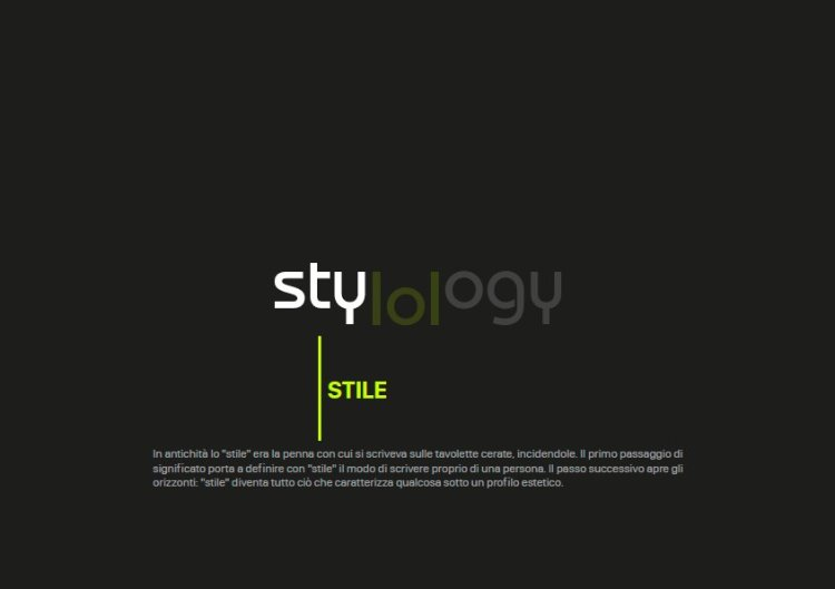 Stylology.it post manifesto