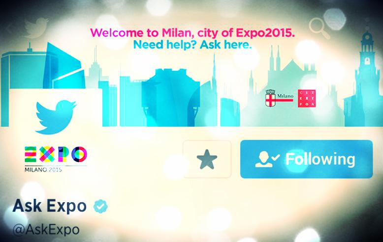 @AskExpo Twitter: come usare il social info point di Milano Expo 2015