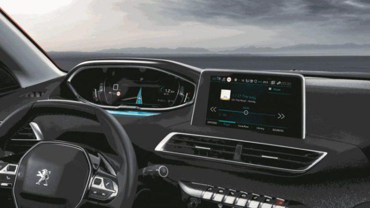 Gli interni della Peugeot 3008