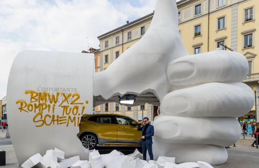 Un #LikeGigante a Milano per svelare la nuova BMW X2