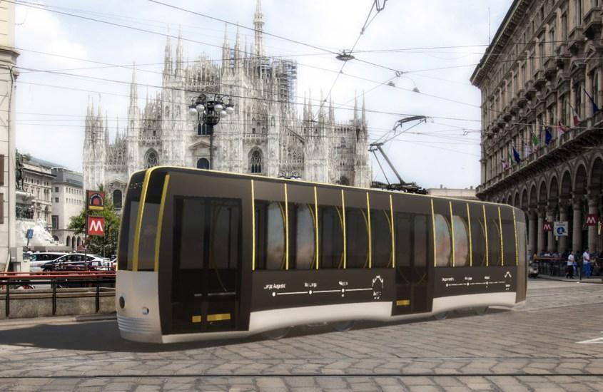 Tram Passerella, l'anti Covid-19 futuristico di stile e design