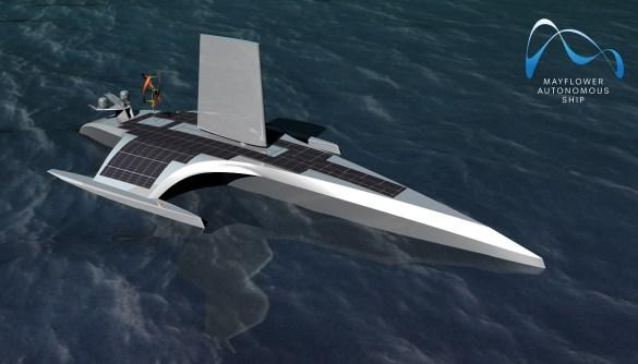 barca a guida autonoma Mayflower