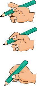 Fichier écriture majuscules - bien tenir son crayon
