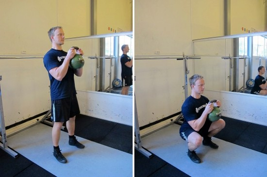 Övningen Goblet Squat utförande
