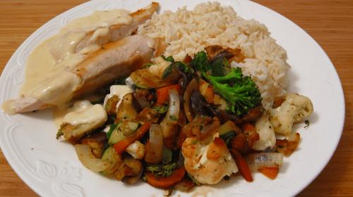 Middag: Kyckling med ris