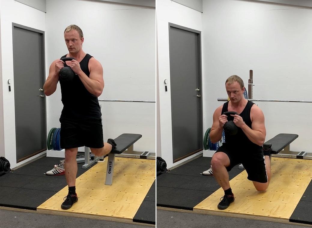 Bulgarian split squat utförande