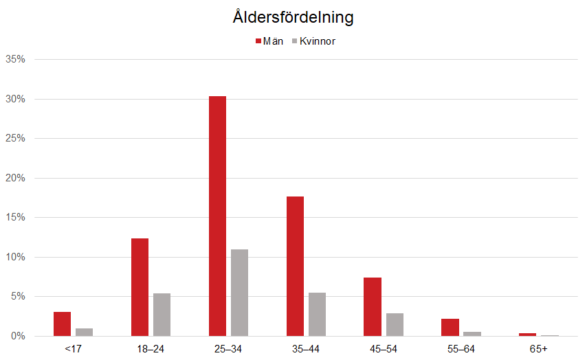 Åldersfördelning 2019