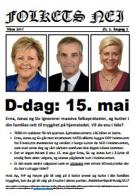Folkets Nei – til distribusjon og spredning før 15 mai