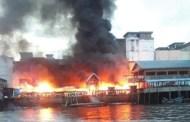 Pasar Guntung Inhil Hangus Terbakar