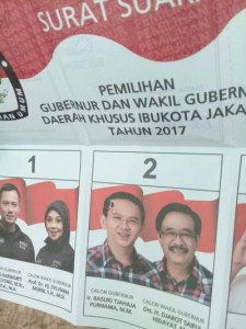 Surat Suara Pilkada DKI Jakarta