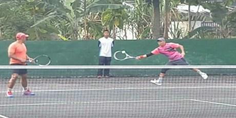 Tim Tenis Lapangan Kodam XII/Tpr Tidak Kenal Lelah