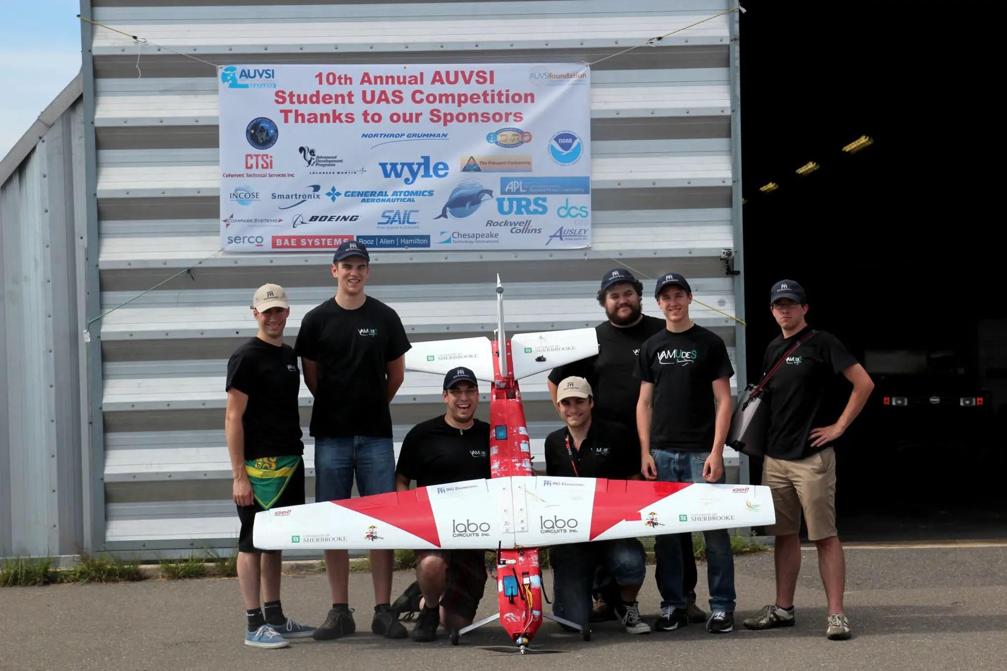 Canadian Team VAMUdeS wins AUVSI sUAS Student Competiton