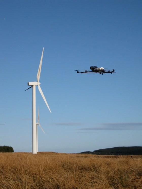 Drone + turbine