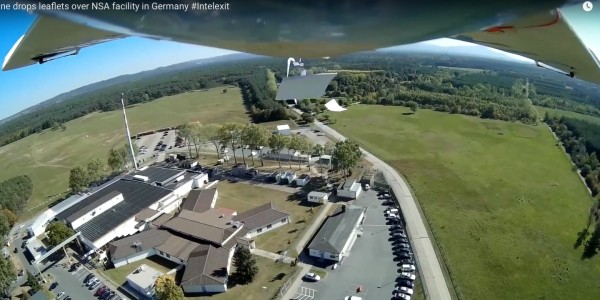 Drone Flies Over NSA Complex in Germany, Dropping Leaflets