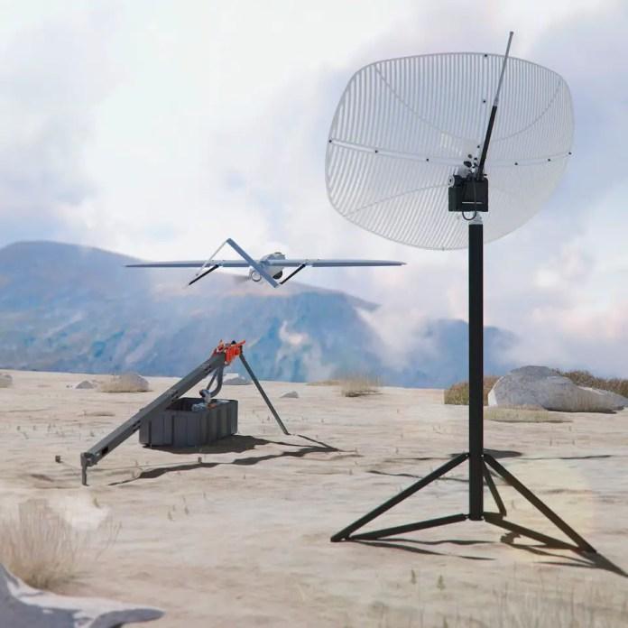 Penguin C desert catapult antenna launch
