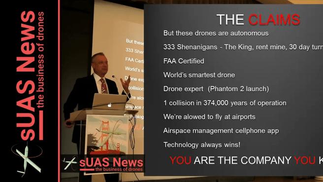 Patrick Egan 2016 expo presentation sUAS News YouTube Thumbnail