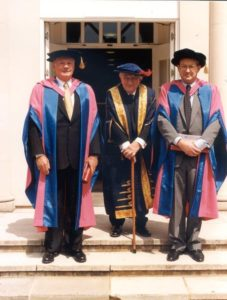 Neil Armstrong (left), Lord Sainsbury 1996