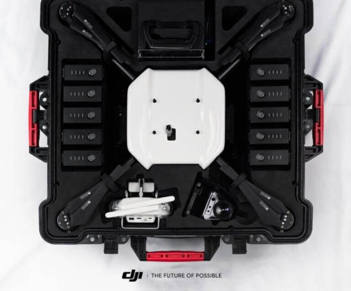 DJI Wind 1 in storage and transport case