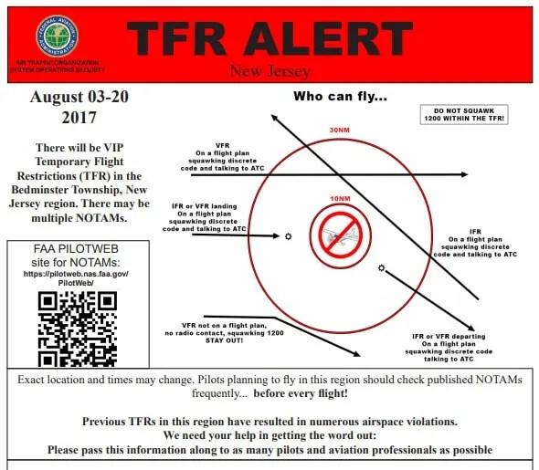 Cruel summer, eighteen days of flight restrictions for New Jersey