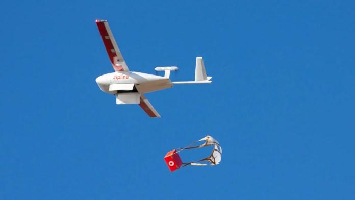 Zipline Drone Delivering
